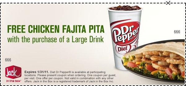 free fajita chicken pita coupon