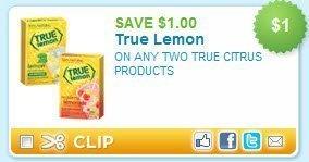 $1/2 True Lemon Products Printable Coupon