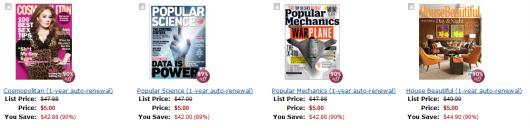 Amazon's HUGE $5 Magazine Subscription Sale: Cosmo, Popular Mechanics, House Beautiful & MORE!