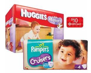 Target: Get Pampers or Huggies As Low As $.11 Per Diaper!