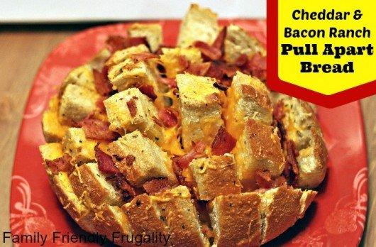 Cheddar Bacon Ranch Pull Apart Bread Recipe