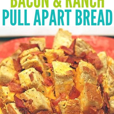 Cheesy Cheddar Bacon & Ranch Pull Apart Bread Recipe