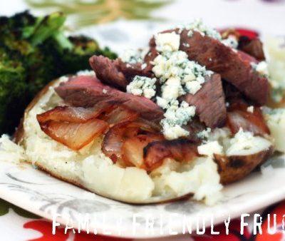 Steak & Blue Cheese Baked Potatoes- Making Meat the Sidekick
