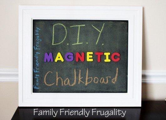 Get Creative: DIY Magnetic Chalkboard