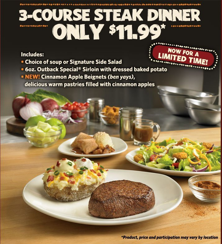 outback steakhouse meal deals