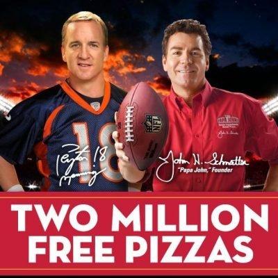 Free Papa Johns Pizza Each Week (120,000 weekly)