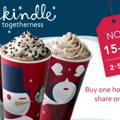 Starbucks: B1G1 Holiday Drinks Now through 11/18!