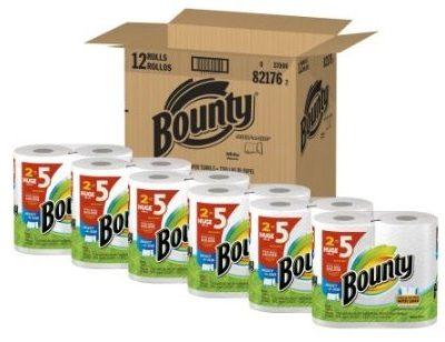 12 Pk Bounty Paper Towels HUGE Rolls Just $.64 Per Single Roll Shipped