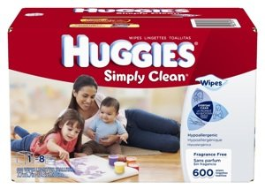 Huggies Baby Wipes – Simply Clean, Fragrance Free (600-count), $7.78 Shipped