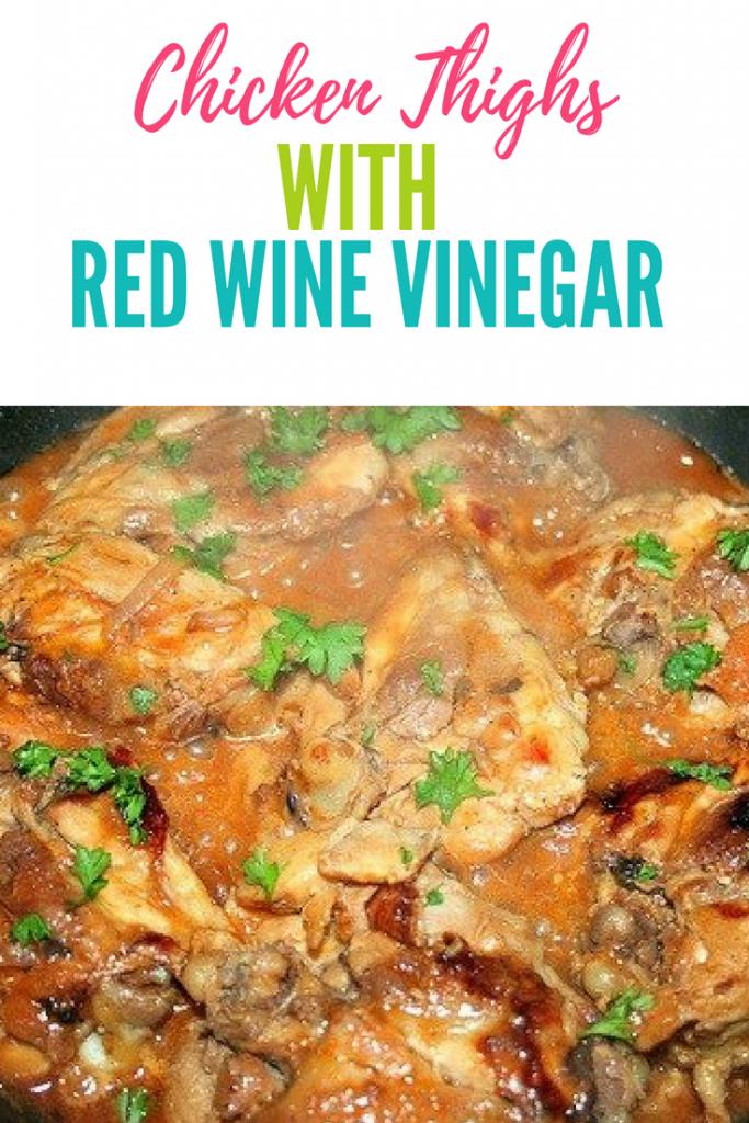 One Skillet Skinless Chicken Thighs With Red Wine Vinegar