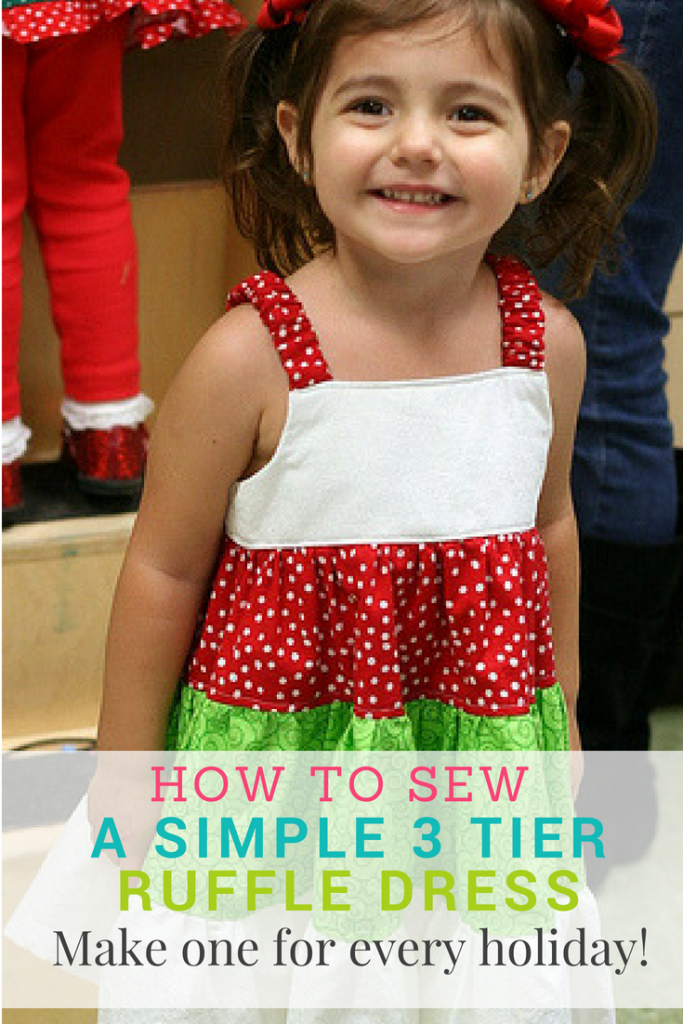 How To Sew A Ruffle Dress – A Quick 3 Tier Ruffle Dress Tutorial For A Little Girl