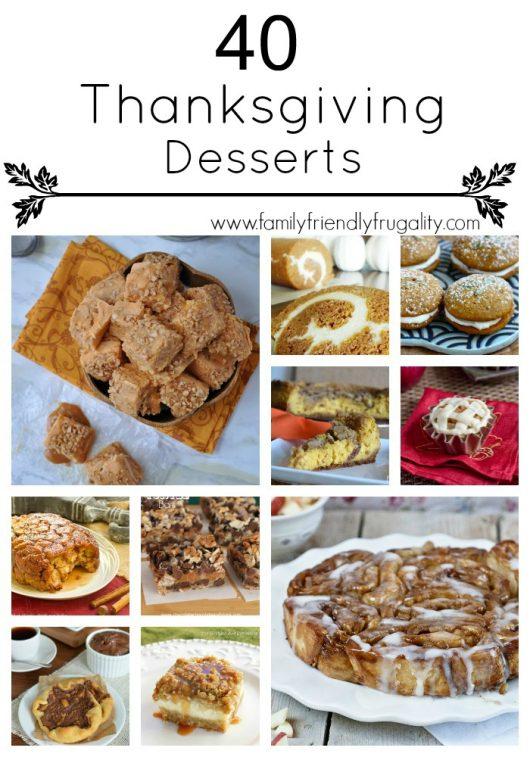 40 Amazing Thanksgiving Dessert Recipes
