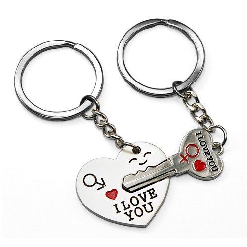 Amazon: Key to My Heart Couple Keychain $.85 + FREE Shipping!