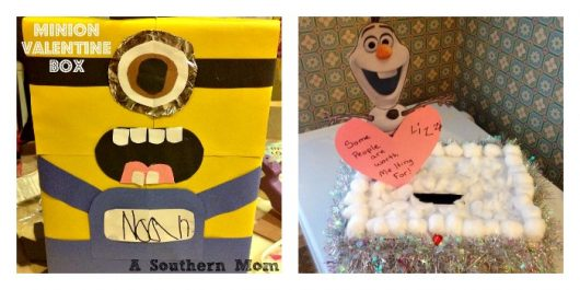 Olaf/Frozen and Minion Valentine's Day Box Tutorials