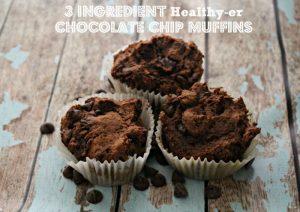 Copycat Otis Spunkmeyer Chocolate Chip Muffins (Just 3 Ingredients! )