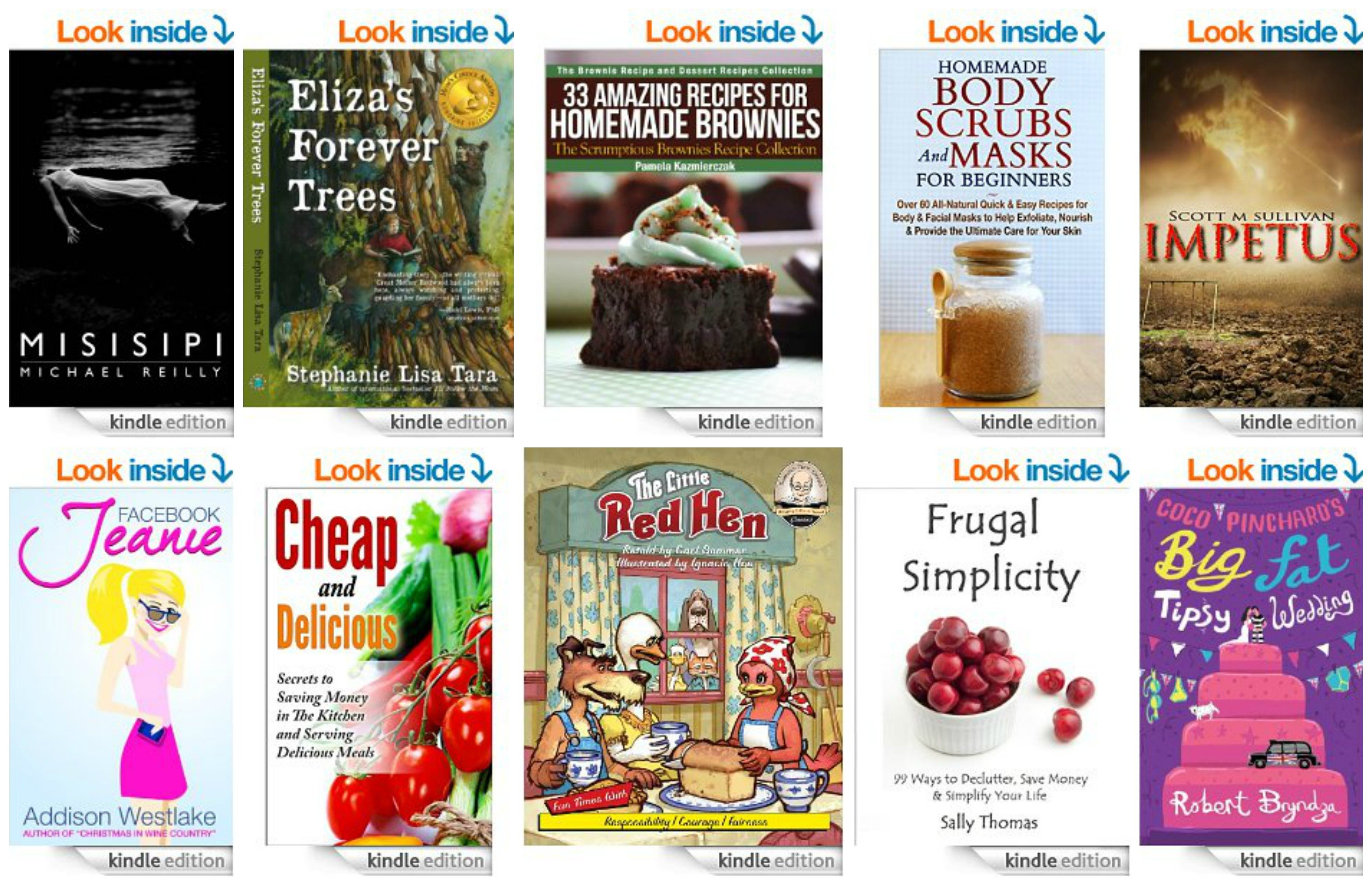 10 Free Kindle Ebooks: Cheap & Delicious, Facebook Jeanie, 33 Amazing Recipes for Homemade Brownies and MORE