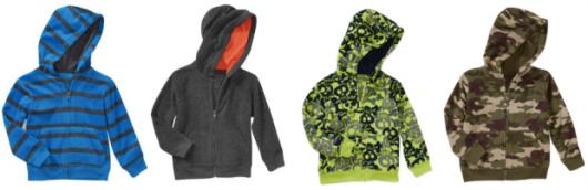 Garanimals Toddler Boy Micro Fleece Hoodies On Sale $2 Each