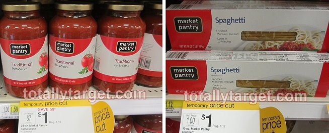 Target: Market Pantry Pasta or Sauce Only $.63 each!