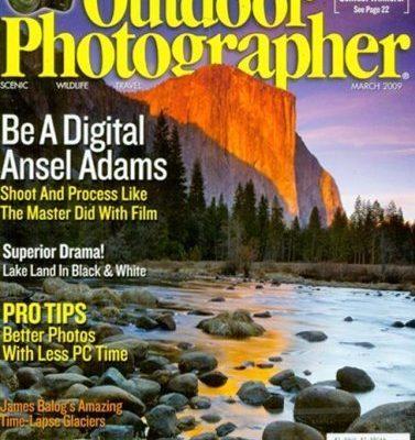 Outdoor Photographer Magazine On Sale $4.99