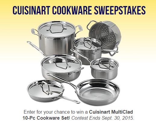 Enter to Win a 10 Piece Cuisinart MultiClad Cookware Set!