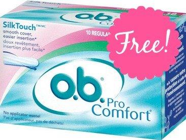 FREE 18-ct. Sample of o.b. Pro Comfort Tampons!