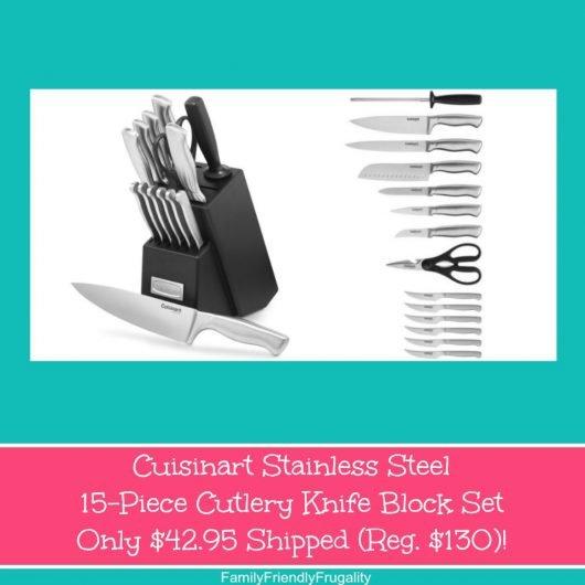 Cuisinart Stainless Steel 15-Piece Cutlery Knife Block Set Only $42.95 Shipped (Reg. $130)!