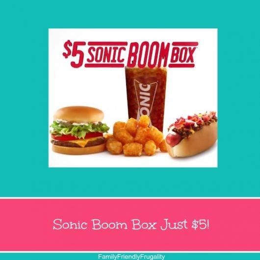 Sonic Boom Box Just $5!