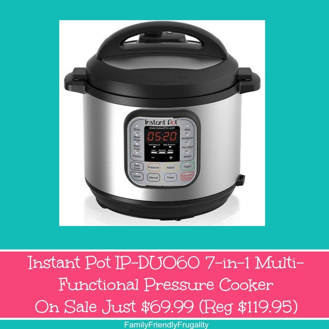 Instant Pot IP-DUO50 7-in-1 Programmable Pressure Cooker On Sale Just $90.62 (Reg $119.95)