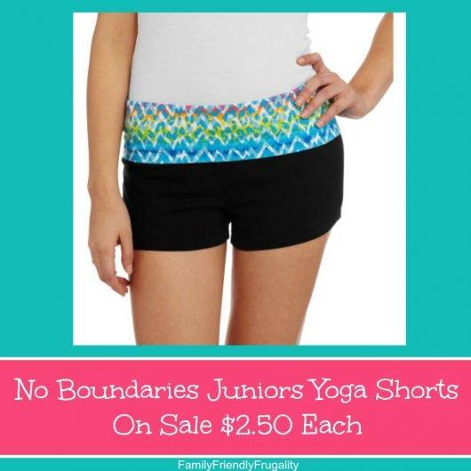 No Boundaries Juniors Yoga Shorts On Sale $2.50 Each