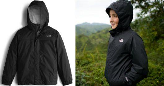 The North Face Boys' Zipline Rain Jacket in Black Just $22.48 (Reg $55)