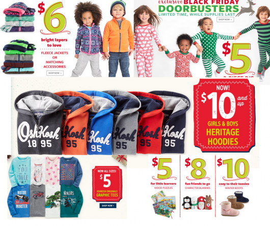 Carters & Osh Kosh HUGE Doorbuster Black Friday Sale!