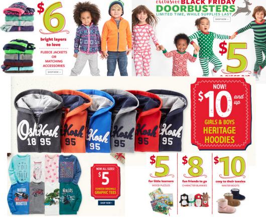 Carters & Osh Kosh HUGE Doorbuster Black Friday Sale!
