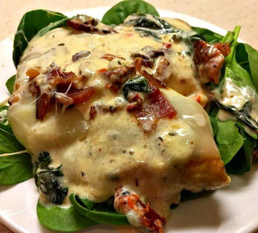 Creamy Garlic & Mozzarella Smothered Chicken Recipe