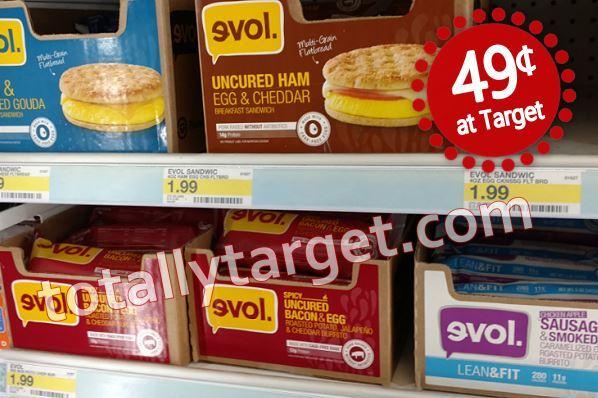 Evol Foods as low as 49¢ at Target!