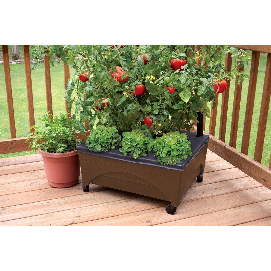 Earth Brown Resin Raised Garden Bed