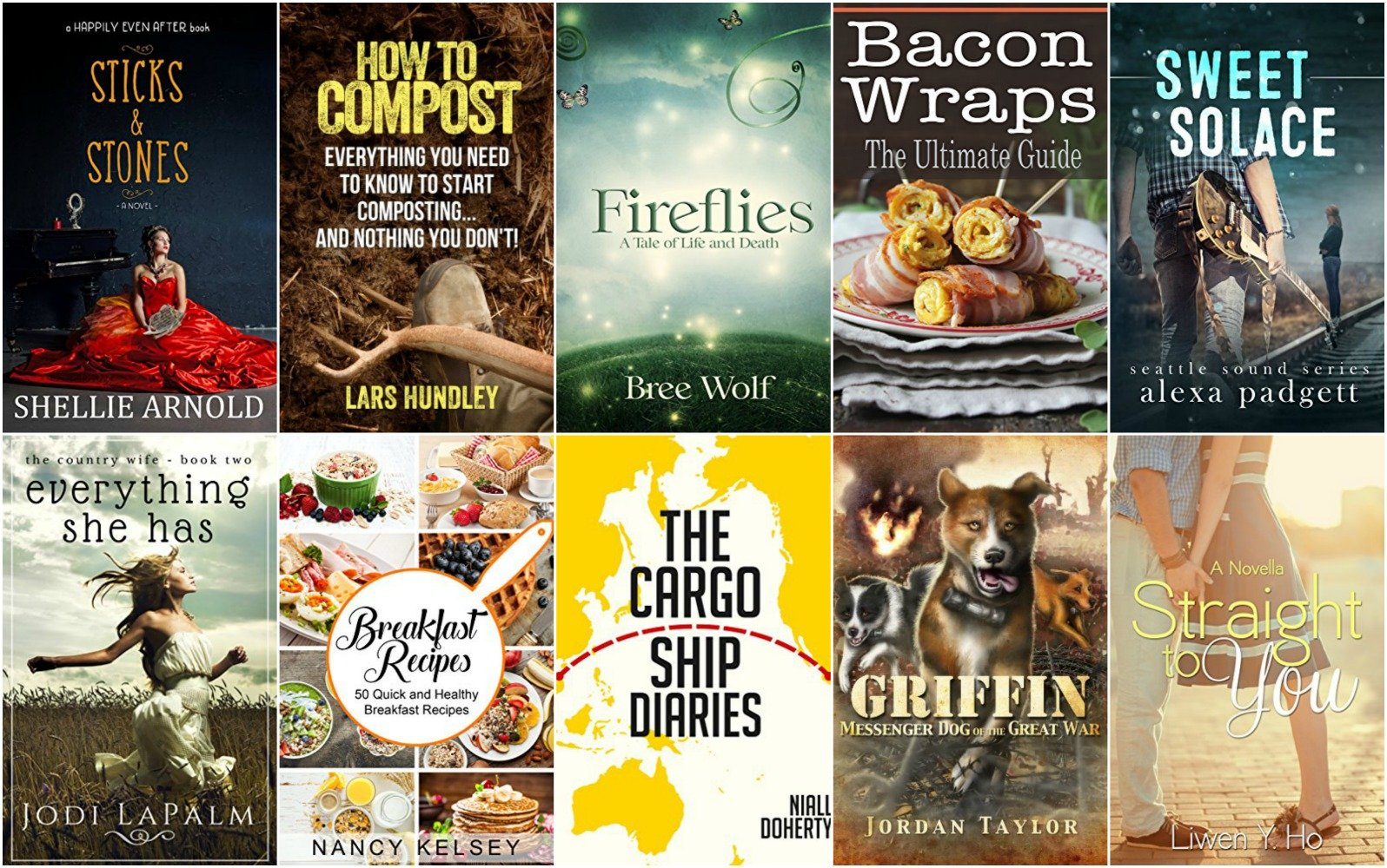 10 Free Kindle Ebooks: Sticks and Stones, Fireflies, Bacon Wraps and More!
