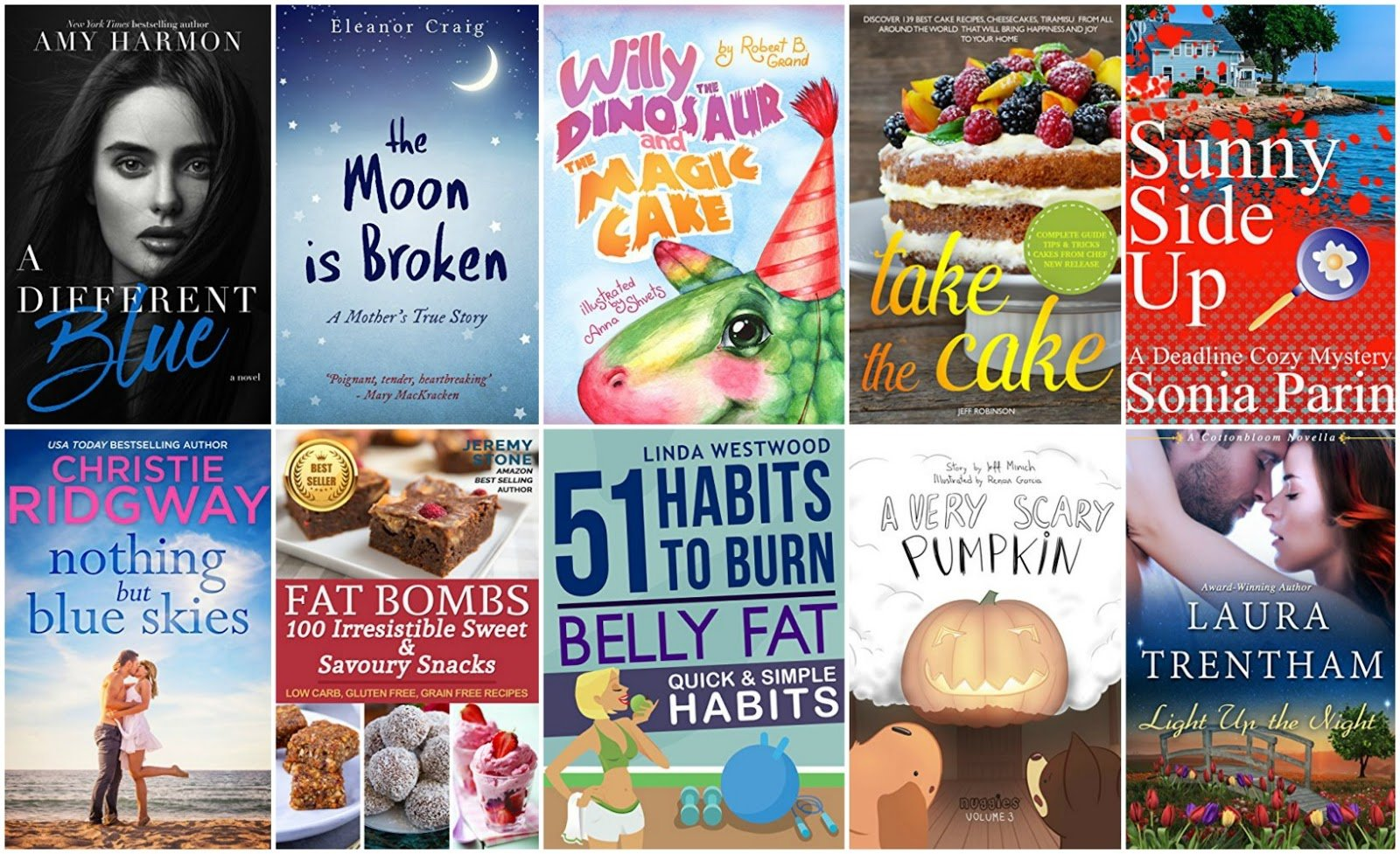 10 Free Kindle Ebooks: A Different Blue, The Moon is Broken and More!
