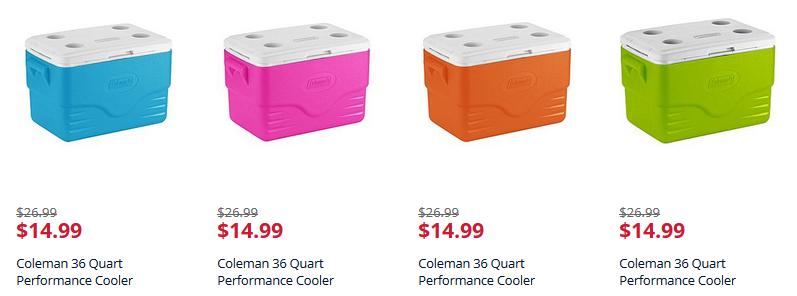 Kmart: Coleman 36 Quart Performance Cooler Only $14.99 (Reg. $26.99)!