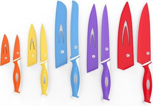 Vremi 10 Piece Colorful Knife Set On Sale $14.99 (Reg $50)