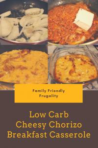 Low Carb Cheesy Chorizo Breakfast Casserole