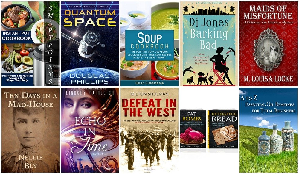 10 Free Kindle Ebooks: Instant Pot Cookbook, Barking Bad, Ten Days in a Madhouse and More!