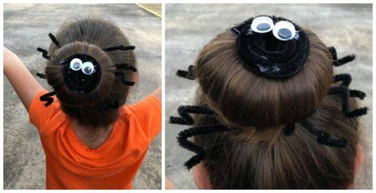 Easy Crazy Hair Day – Spider Bun