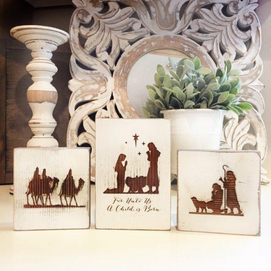 Weathered Barnwood Rustic Nativity Scene On Sale $13.99 + Free Shipping