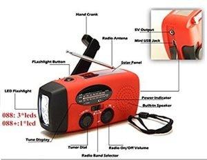 iRonsnow Dynamo Emergency Solar Hand Crank Self Powered AM/FM NOAA Weather Radio On Sale $19.99