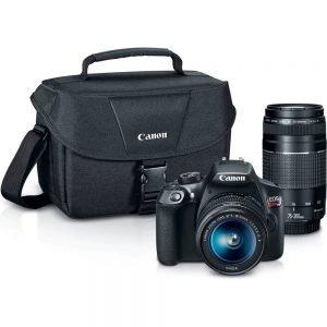Canon EOS Rebel T6 Digital SLR Camera Kit with EF-S 18-55mm and EF 75-300mm Zoom Lenses On Sale $449 (Reg $750)