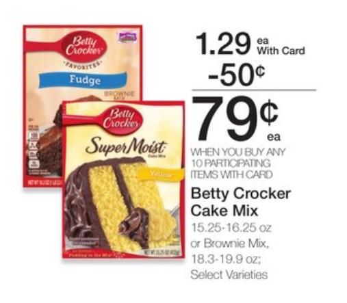 Betty Crocker Cake Or Brownie Mix Just $.54 Per Box at Kroger