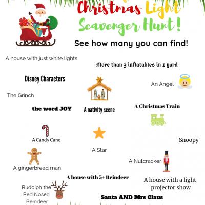 Christmas Light Scavenger Hunt Free Printable (Updated for 2018!)