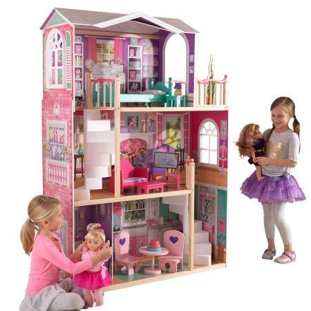 kidkraft 18 inch dollhouse doll manor on sale reg. Black Bedroom Furniture Sets. Home Design Ideas