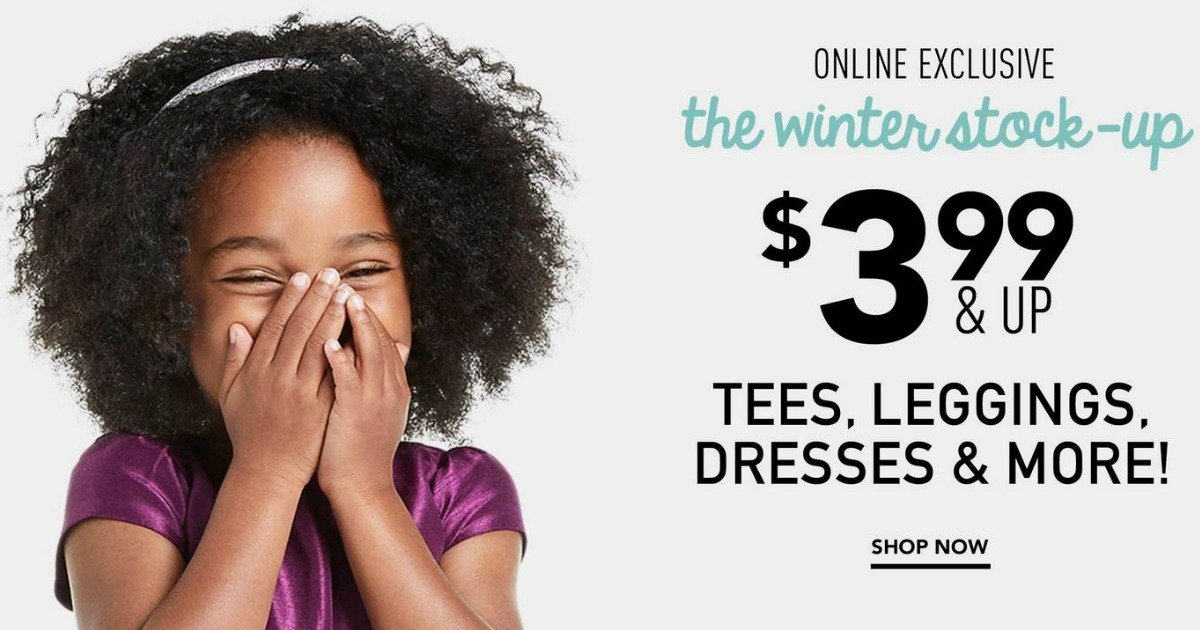 Gymboree – $3.99 and Up Tees, Leggings and Dresses PLUS $5.99 Sneakers!