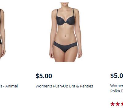 Kmart – Bra & Panty Sets On Sale $5 Per Set